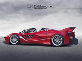 Ferrari FXX K Spider: Okruhové LaFerrari nahoře bez