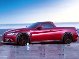 Alfa Romeo Giulia QV jako sportovní... pick-up!