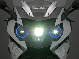 BMW motorkářům: Přilba s head-up displejem a laserové světlomety