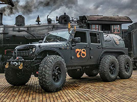 Americký úpravce stvořil šestikolový Jeep na parní pohon. Můžete ho mít