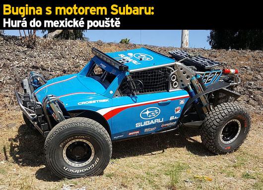 Bugina s motorem Subaru: Hurá do mexické pouště