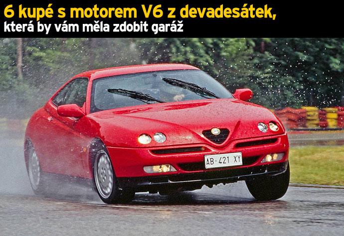 6 kupé s motorem V6 z devadesátek, která by vám měla zdobit garáž