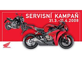 Servisní kampaň motocyklů Honda 2008: titulní fotka