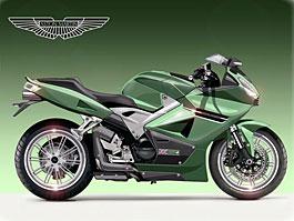 Aston Martin DBV4: studie sportovního motocyklu: titulní fotka