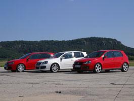 """Test: Golf GT vs. Golf GTI vs. Golf R32 – jsou všechny """"hot""""?: titulní fotka"""