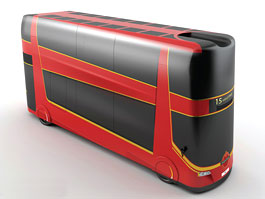 Autobusy pro Londýn: místo cestujících nákladní palety: titulní fotka
