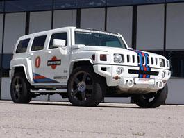 Hummer H3 V8: SUV s kompresorem v barvách Martini od GeigerCars: titulní fotka