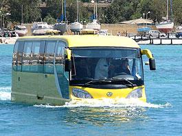 AmphiCoach GTS-1: autobus na silnici i na vodní hladinu: titulní fotka