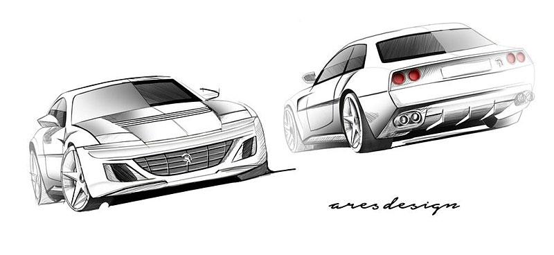Ares Design chce oživit velké cestovní Ferrari 412 s technikou GTC4 Lusso: - fotka 6