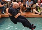 Fotogalerie: GP Monaka 2018 a bazénový párty mód