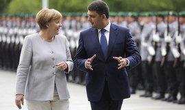 Merkelov�: Jedn�n� o vstupu Ukrajiny do EU nen� na po�adu dne