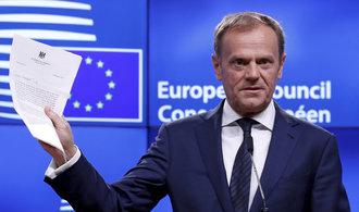 Tusk: Naše jednota je v zájmu Británie. Její návrh jednání ale rázně odmítl
