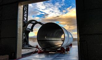 Testování hyperloopu pokračuje. Zamýšlené rychlosti ale zatím zdaleka nedosahuje