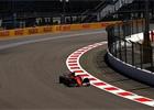 První trénink v Soči přerušily červené vlajky, nejrychlejší Räikkönen