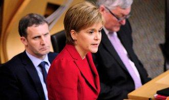 Skotská premiérka chce referendum řešit v závěru brexitu