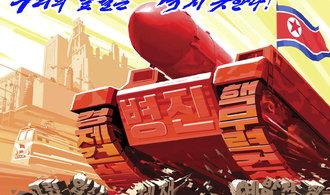 KLDR zveřejnila propagandistické plakáty. Americká pevnina je v dosahu úderu, hlásá jeden z nich