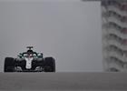 V prvním mokrém tréninku na GP USA 2018 byl nejrychlejší Hamilton