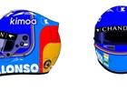 Grosjean, Bottas a Alonso ukázali letošní helmy