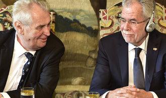 Zeman se s Van der Bellenem neshodl na jádru a migraci