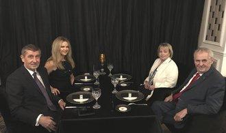 Babiš se sešel se Zemanem, na večeři v Průhonicích řešili podporu vlády