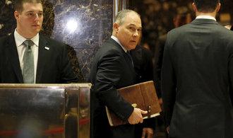Životní prostředí v USA bude chránit oblíbenec ropných firem a kritik klimatických změn