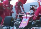 Video: Ferrari mělo letos poprvé nejrychlejší zastávku v boxech
