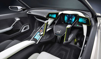 Volant ve tvaru joysticku. I takov� auta cht�ly vyr�b�t automobilky