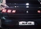 Unikly fotky nového Peugeotu 508. Vzadu bude mít tygří drápy