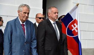 Kiska ocenil Evropskou unii a NATO, připomněl dopady okupace. Od mluvčího Zemana se dočkal díků