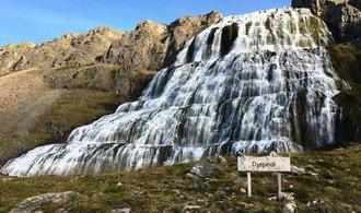 OBRAZEM: Podívejte se na hřmící vodopád Dynanji a jeho okolí na západě Islandu