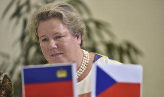 Nevyřešené otázky znovu vyplouvají na povrch, hodnotí vztahy s Českem velvyslankyně Lichtenštejnska