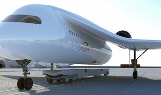 Letadla budoucnosti s oddělitelnými křídly. Futuristický koncept má odlehčit letištím