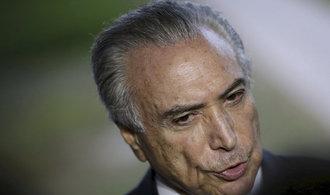 Brazilský premiér Temer byl obviněn z korupce