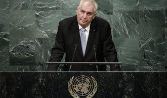 Svět stále nedokázal zasáhnout proti terorismu, řekl v OSN Zeman