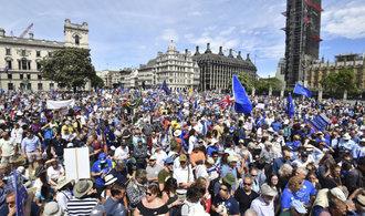 Demonstrace v Londýně. Desetitisíce lidí žádaly nové referendum o brexitu