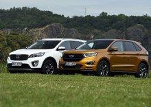 Ford Edge 2.0 TDCi Bi-Turbo vs. Kia Sorento 2.2 CRDi � Cesta do Ameriky