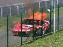 Slovakiaring: nehoda a hořící Ferrari 430 GT3 (+video)