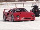 Tohle je dokonalý způsob, jak ukázat drahá a vzácná auta. Ve Svatém Mořici vyrazila na zamrzlé jezero