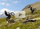 Video: zábava v Alpách na trialové motorce