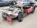Vydražil se vrak shořelého Ferrari, za nejvyšší příhoz byste koupili dvě nové Octavie!