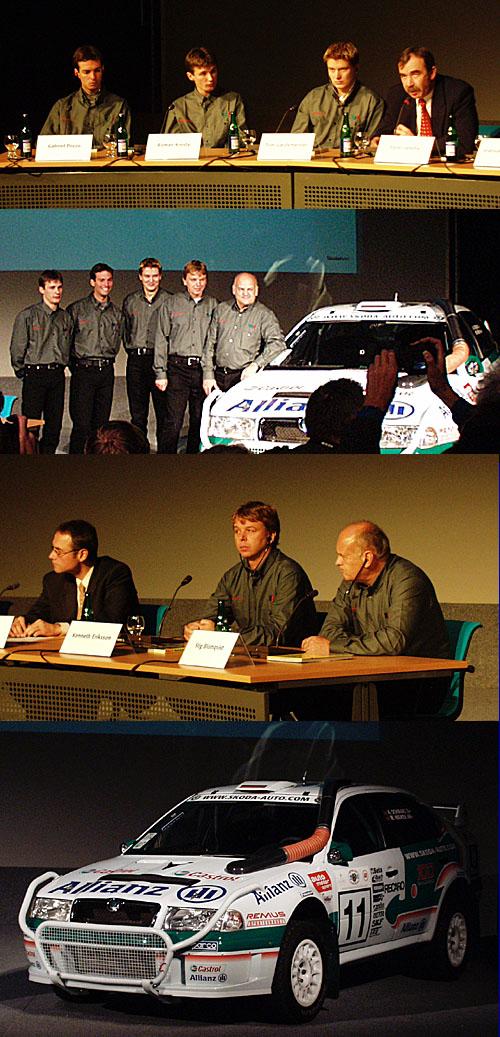 Siln� sestava �kody Motorsport pro rok 2002