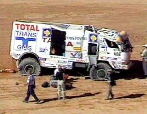 Loprais měl nehodu a Dakar letos nedojede!