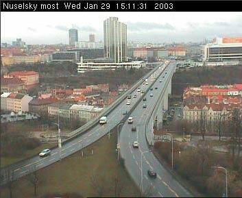 On-line kamera informuje o dopravní situaci v Praze