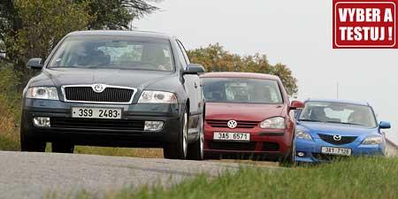Vyber a testuj – výsledek testu Octavia vs. Mazda3 vs. Golf
