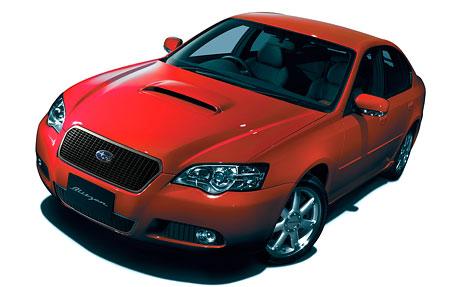 Subaru Legacy Blitzen 2005: hromy a blesky