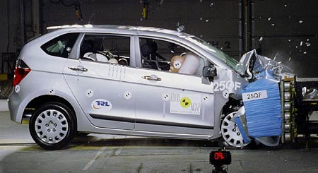 EuroNCAP: v dalším kole crash testů vítězí Peugeot 1007