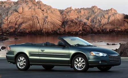 Nejprodávanější otevřená auta v USA: vede Chrysler Sebring