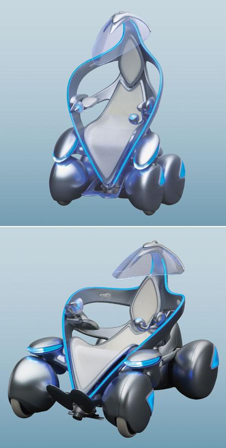Toyota i-Unit: pojízdné křeslo 1+0