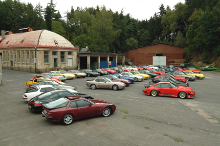 Pozvánka na sraz historických vozů Porsche