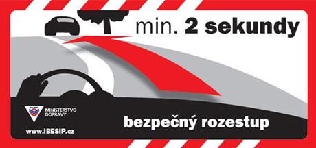 Bezpečná vzdálenost: nová kampaň BESIPu na českých silnicích